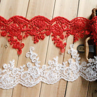 Alencon lace trim/Lace Wedding Dress Lace Fabric//Lace Trim By the yard/AL-11