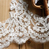 Bridal Lace Trim/Off-White Lace Trim/Off-White Alencon lace trim/Boho Wedding Dress Lace/Lace Wedding Dress/Bridal Veil Lace Trim/AL-32