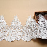 Bridal Lace Trim/Off-White Lace Trim/Off-White Alencon lace trim/Boho Wedding Dress Lace/Lace Wedding Dress/Bridal Veil Lace Trim/AL-34