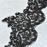 Ivory Alencon lace trim/Lace Wedding Dress Lace Fabric/Lace Trim By the yard/AL-25