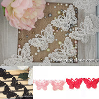 Guipure lace trim with butterfly pattern/Venise lace trim/Wedding Lace by the yard/GL-28