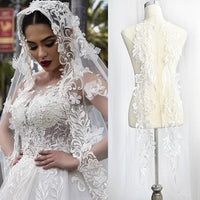 Off white wedding applique/Wedding Dress applique/lace applique for a pair of 2/ALA-64