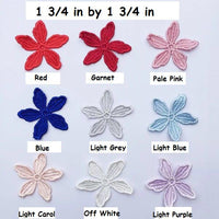 Flower lace applique/Cute Patches/Floral Lace Applique/Lace Patch, two layers lace flower applique, priced for pair of 2 LA-55