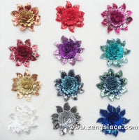 Rose Fabric flowers/Cute Patches/Wedding or DIY  Hair Bow Flowers Lace flowers/Lace Applique priced for one piece/DL-13