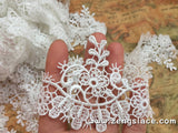 Off-White Lace Trim/Guipure Lace/Bridal Lace/Wedding Lace/Bridal Gown Lace/Venise Lace by yard/GL-72
