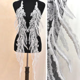 Off White Lace Wedding Dress Applique/Lace Applique/Boho Wedding Dress/Bridal Applique/ALA-74