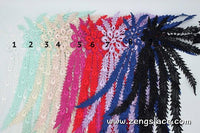 White lace applique/feather applique/Lace Patch/Cute Patches/Venise Lace Applique, priced for one piece, LA-42
