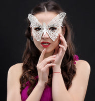 Masquerade Mask/Masks For Masquerade/Venetian Mask/Half Mask/Lace Mask/Masquerade Mask Men/Gift for her/Gift for him/LM-16-BL
