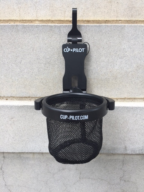 Cup-Pilot Portable Beverage Holder - comes in Black, Super Blue or Hunter Green