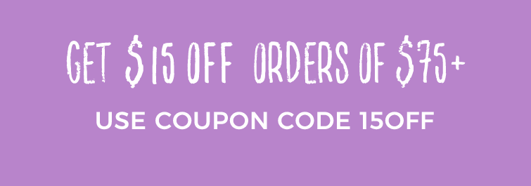 $15 off orders of $75+