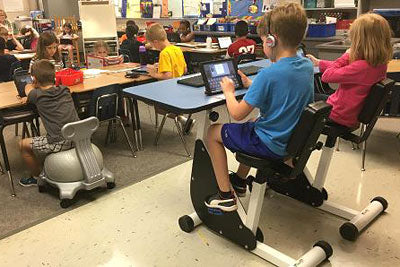 exercise in the classroom