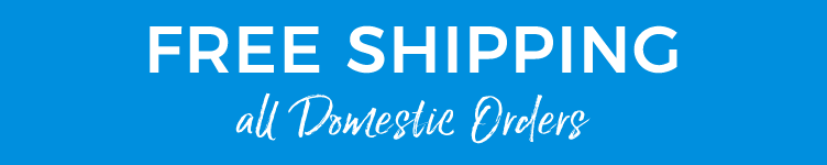 free domestic shipping on all orders