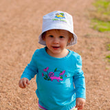 Infant Toddler Sun Protective Shirt-Garden Brilliant Cerulean Blue - Little Leaves Clothing Company