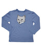 Boys Sun Protective Shirt-Fox Cobalt Blue Gray - Little Leaves Clothing Company