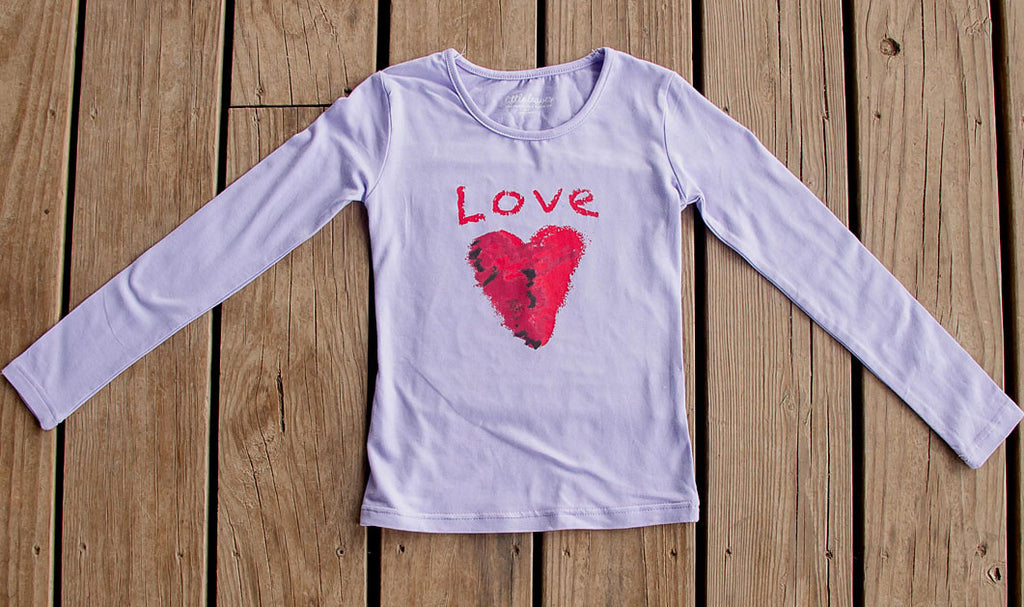Girls Sun Protective Shirt-Love Purple