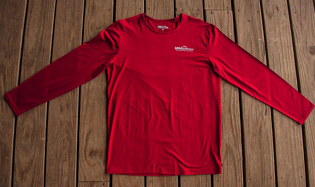 Mens Sun Protective Shirt-Deep Crimson