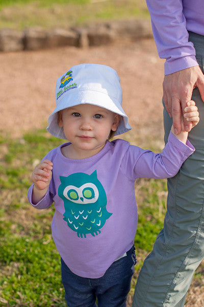 Infant Toddler Sun Protective Shirt-Owl Mulberry Purple Gray - Little Leaves Clothing Company