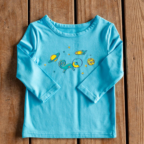 Infant Toddler Sun Protective Shirt-Garden Brilliant Cerulean Blue