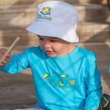 Infant Toddler Sun Protective Shirt-Space Brilliant Cerulean Blue - Little Leaves Clothing Company