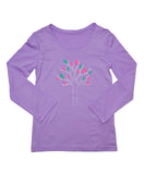 upf shirt girls purple tree graphic