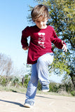 sun protective clothing boy shirt red