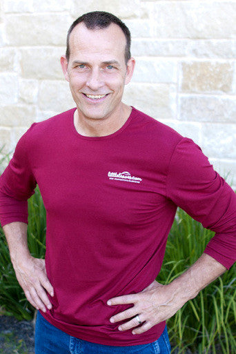 Mens Sun Protective Shirt-Deep Crimson - Little Leaves Clothing Company