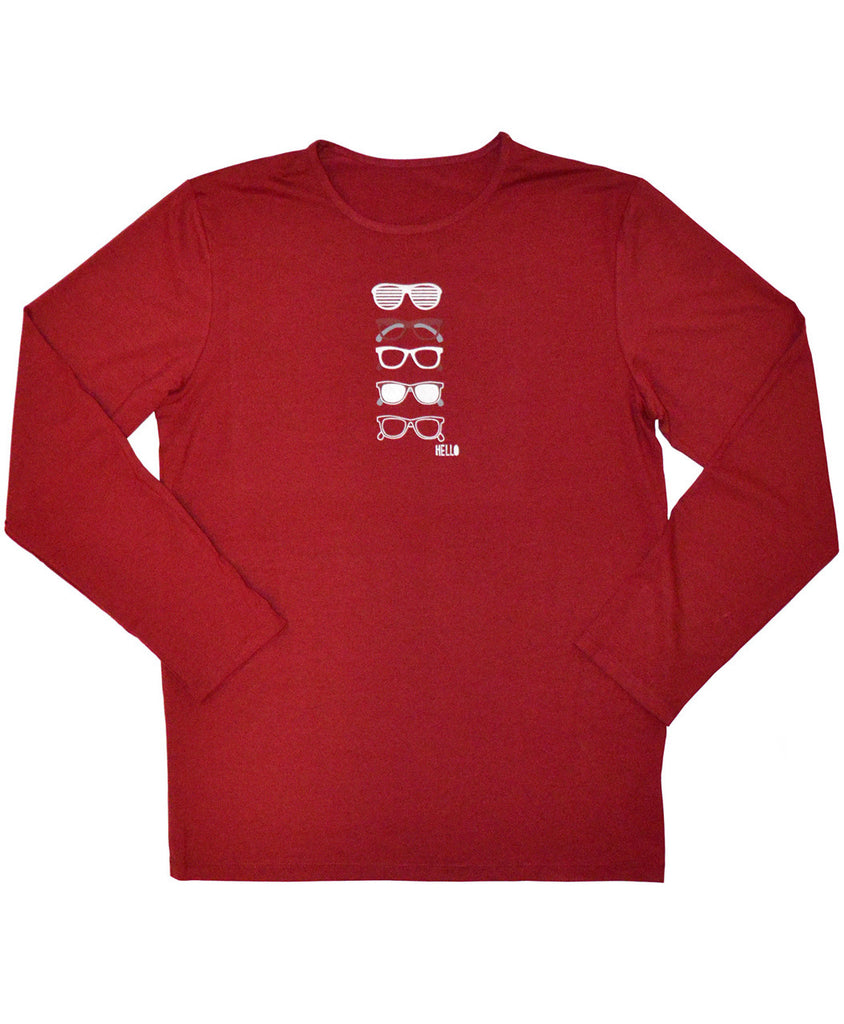 boy red spf shirt