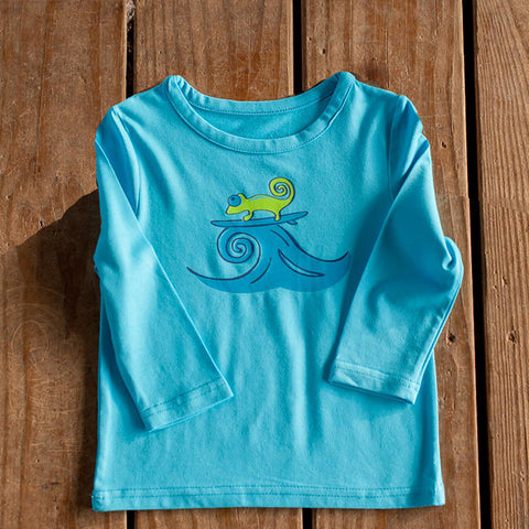 Infant Toddler Sun Protective Shirt-Space Brilliant Cerulean Blue