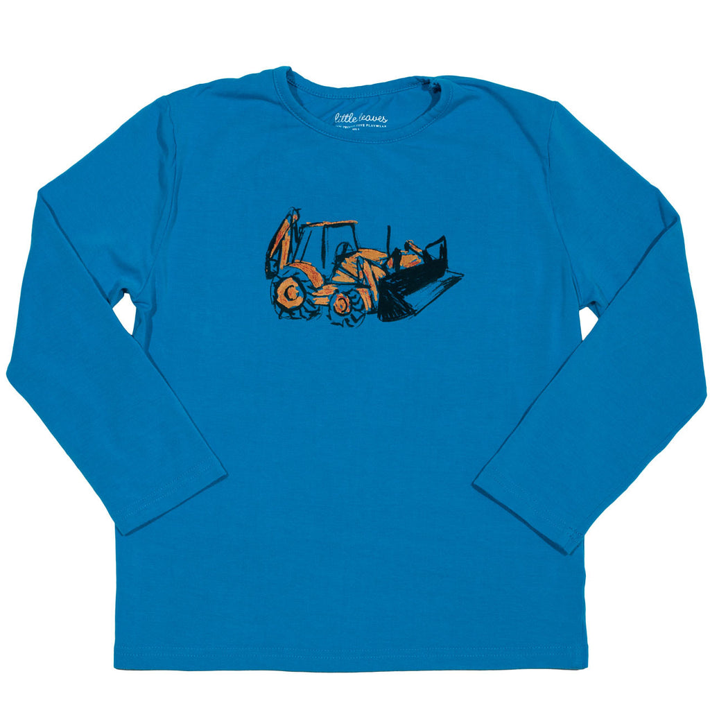 boys sun protective clothing shirt blue truck graphic