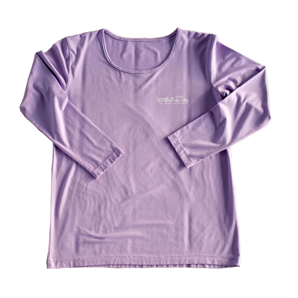 Womens Sun Protective Shirt-Mulberry Purple Gray - Little Leaves Clothing Company