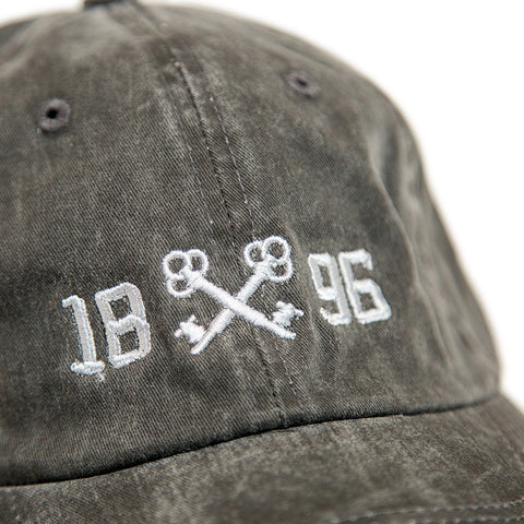 1896 Keys Distressed Logo Hat Detail