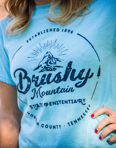 Brushy Mountain - Antique Graphic, Blue