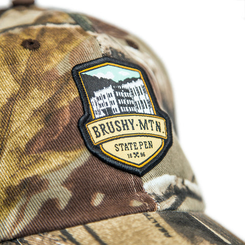 Brushy Camo Mesh Hat Detail