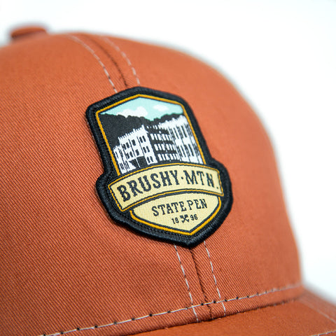 Brushy Mountain Logo Mesh Hat Detail