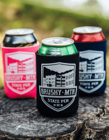 Koozies with Brushy Mountain State Penitentiary logo
