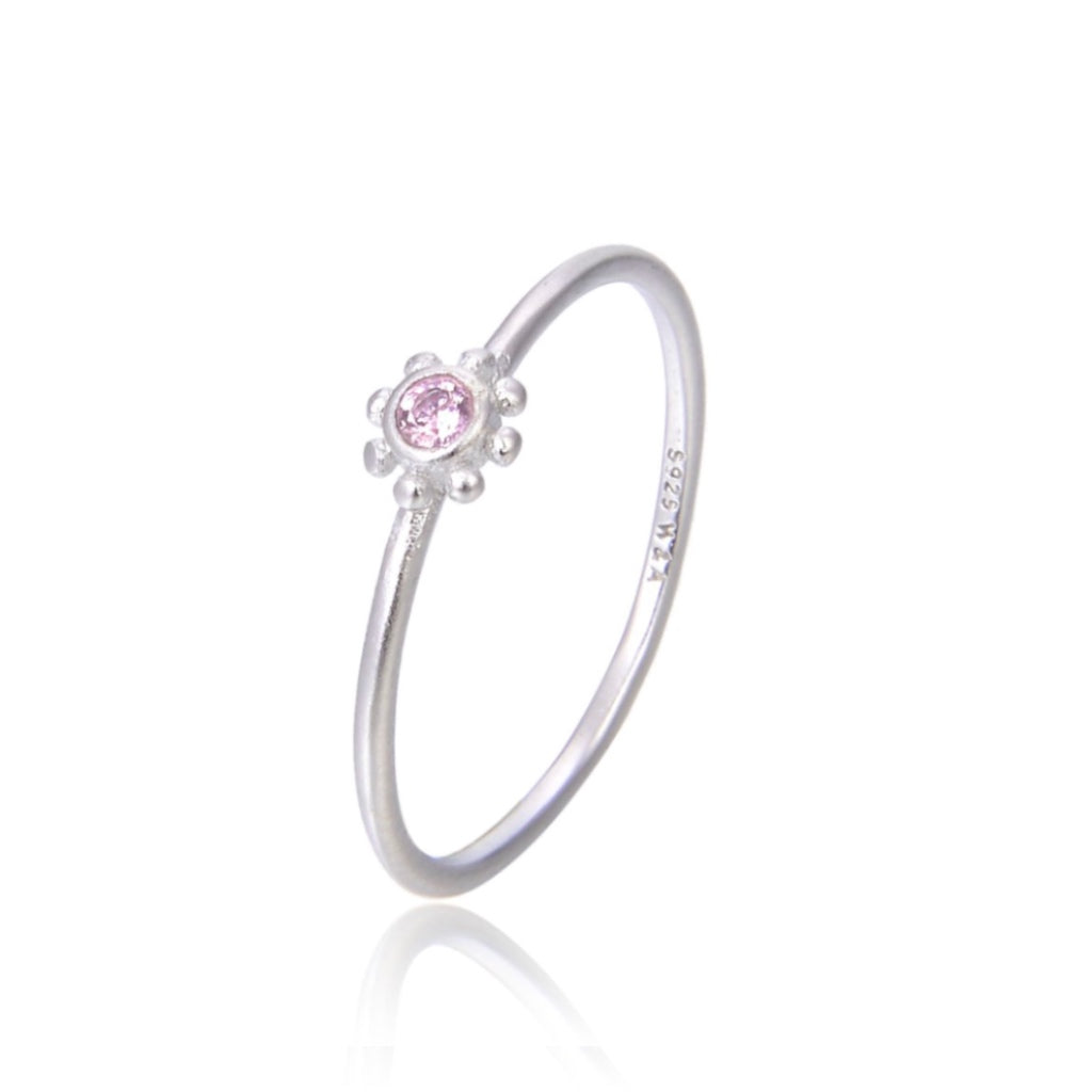 Pink small sun ring