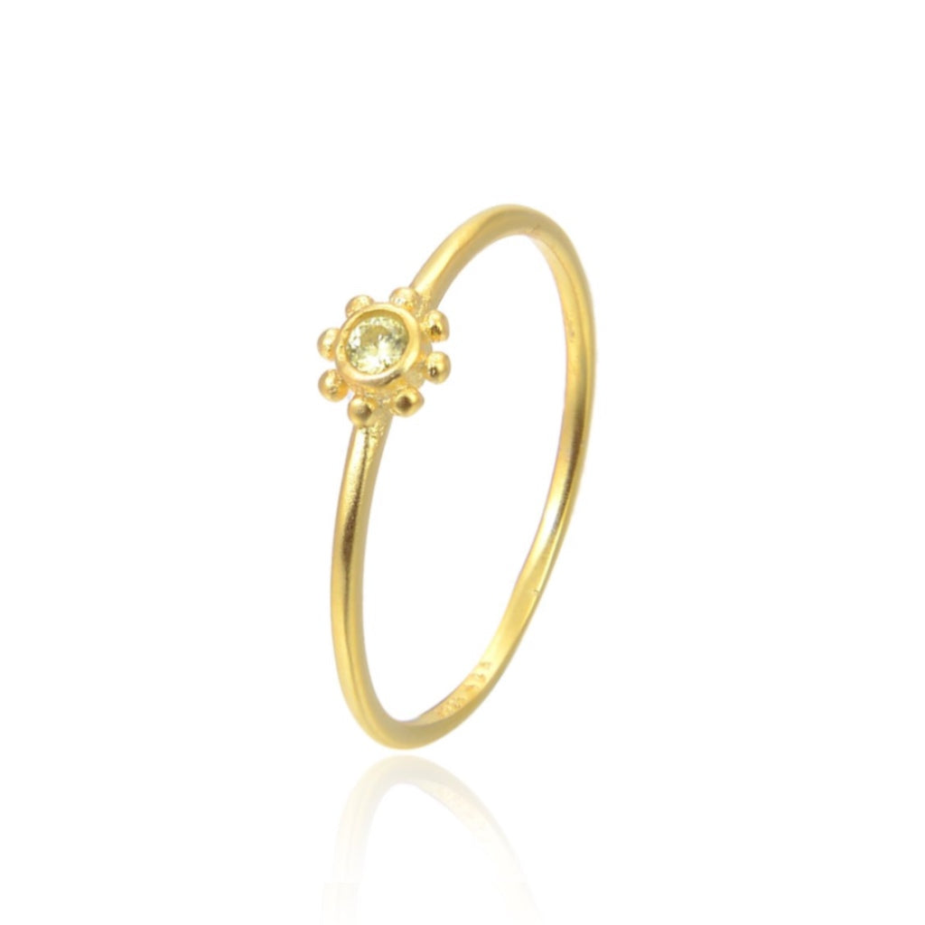 Yellow small sun ring