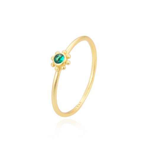 Green small sun ring