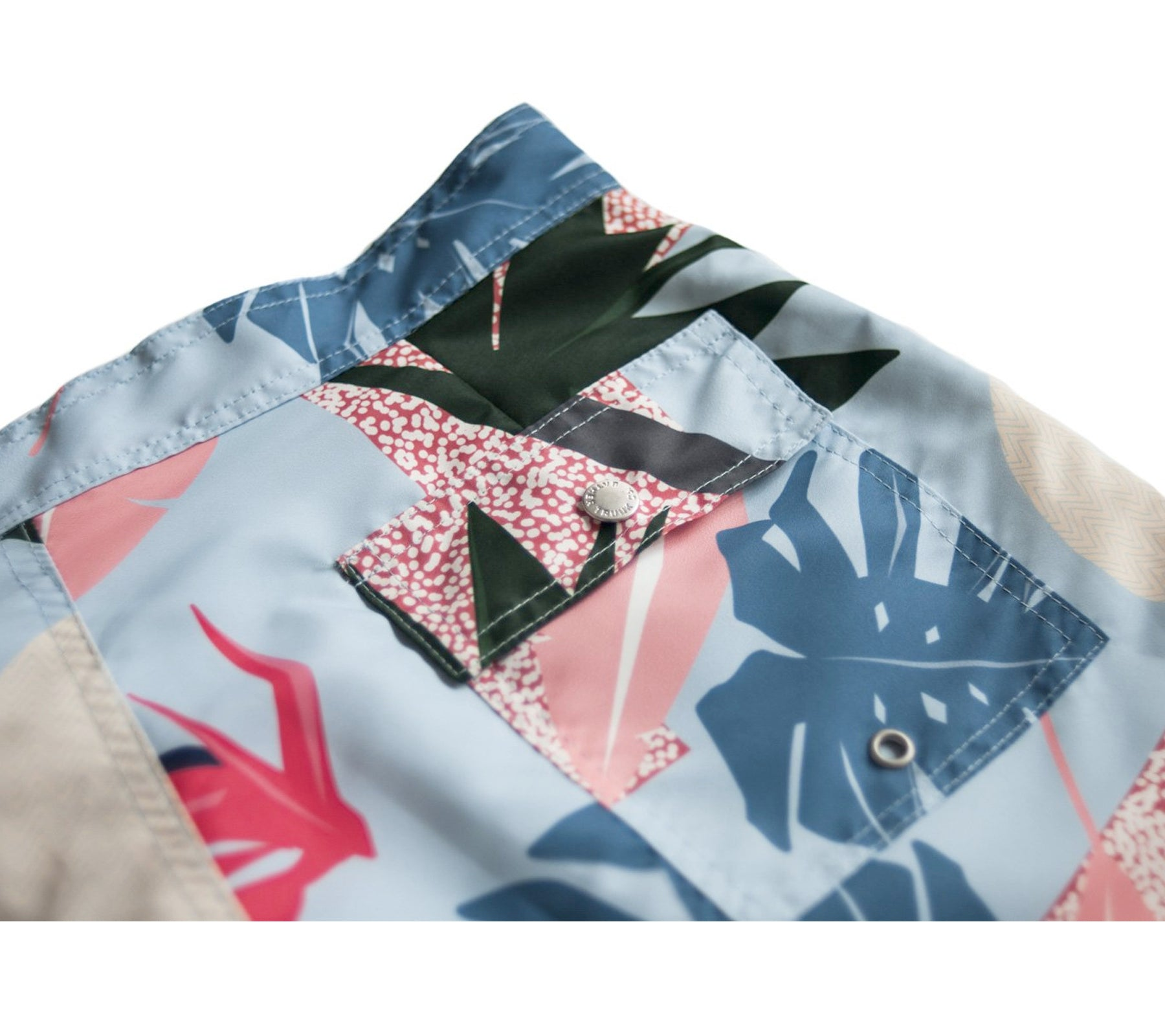 3128345421 Blue Abstract Palms Surf Trunk – Clark Street Mercantile