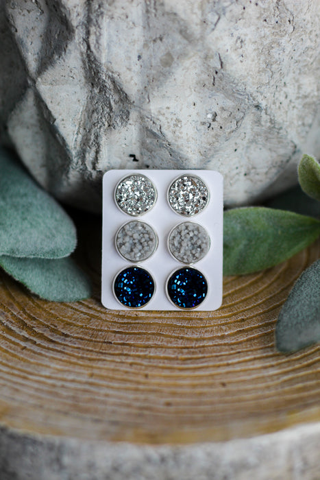 Overcast Triple Earring Set
