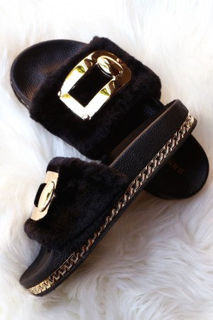 Hollywood Fur Slippers