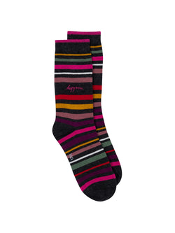 Happiness Stripe Crew Socks