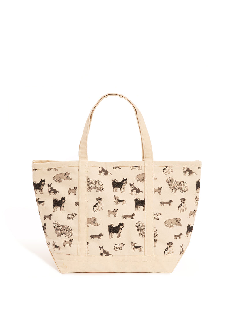 Classic Large Dog Print Tote