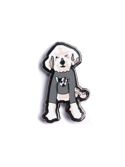 White Dog Pin