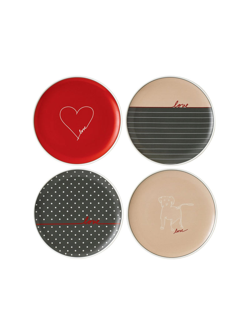 Signature Plate Set of 4