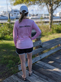 Sea Born - Ladies Pink Aquaflage Performance Long Sleeve