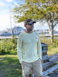 Sea Born - Yellow Aquaflage Performance Long Sleeve