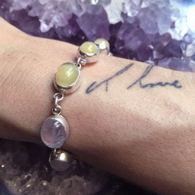 "Custom Keepsake and Stone Bracelet - Blood/Breastmilk/Ashes ""gem"" with choice of 5 stones"