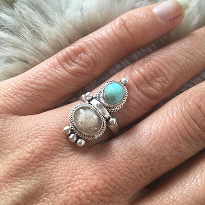 Energetic Stone and Keepsake (breastmilk, placenta, ashes, menstrual blood, baby hair) Goddess Ring