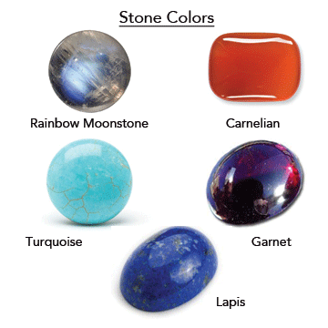 Custom MoonBlood™ in Crystal and with choice of 5 stones